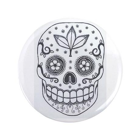 "Sugar Skull 3.5"" Button"