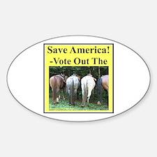 """""""Save America"""" Sticker (Oval)"""