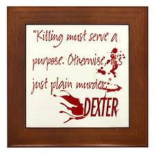 Dexter Murder Framed Tile