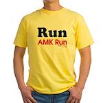 run AMK Yellow T-Shirt
