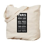 Paris Bus Roll Tote Bag