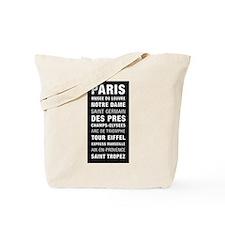 Paris Bus Roll Tote Bag