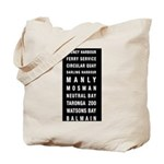 Sydney Ferry Destination Tote Bag