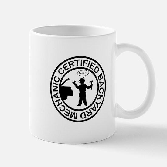 Certified Backyard Mechanic Mug