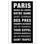 Paris Bus Roll Destination Large Poster