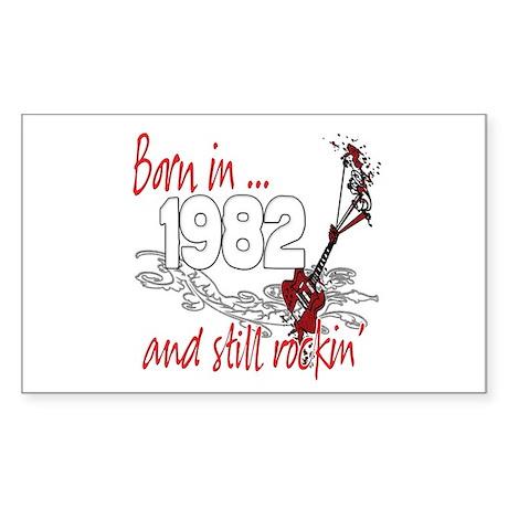 Born in 1982 Sticker (Rectangle 10 pk)