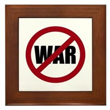No War Framed Tile