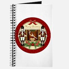 Red Nutcracker ballerina round Journal