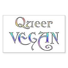 Queer Vegan Rectangle Decal