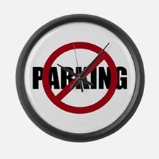 No Parking Large Wall Clock