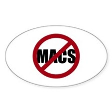 No Macs Decal