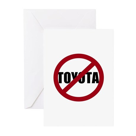 Anti-Toyota Greeting Cards (Pk of 20)