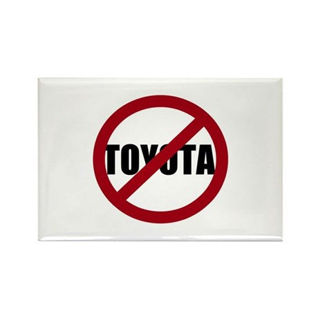 Anti-Toyota Rectangle Magnet