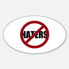 No Haters Decal