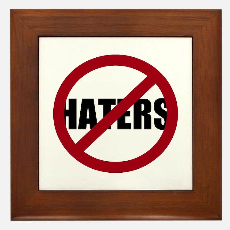 No Haters Framed Tile