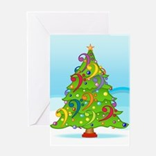 Bass Clef Christmas Greeting Card