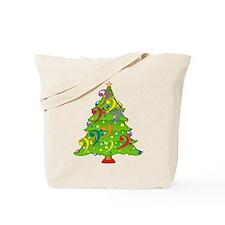 Bass Clef Christmas Tote Bag