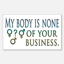 My Body is My Business Rectangle Decal