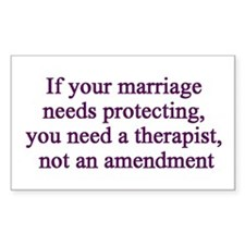If your marriage needs protecting, gay Decal