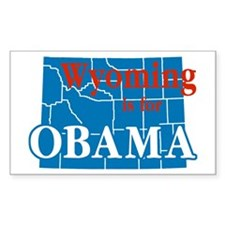 Wyoming Is For Obama Rectangle Decal