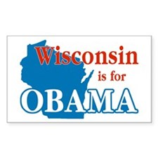 Wisconsin Is For Obama Rectangle Stickers