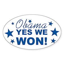 Obama Yes We Won Decal