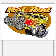Hot Rod Yard Sign