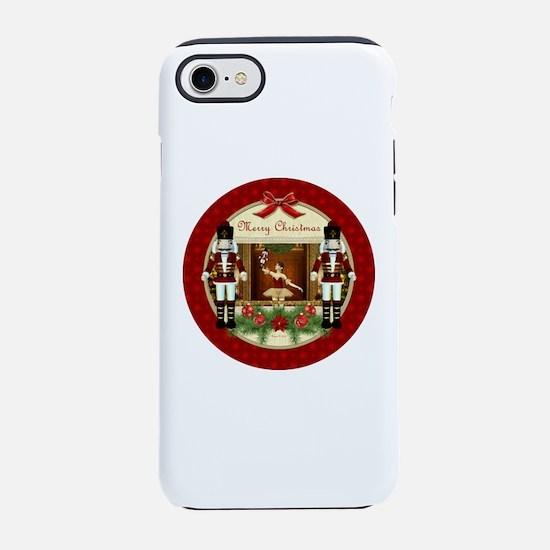 Red Nutcracker ballerina round iPhone 7 Tough Case