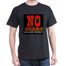 No Bears Black T-Shirt