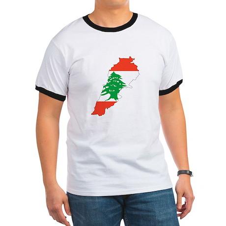 Lebanon Map Ringer T