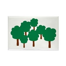Forest trees Rectangle Magnet (100 pack)
