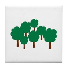 Forest trees Tile Coaster