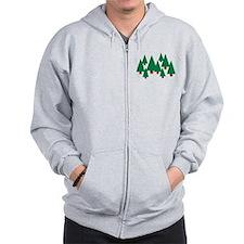 Forest trees Zip Hoodie