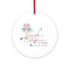 Joseph & Mary Ornament (Round)