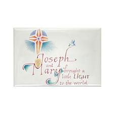 Joseph & Mary Rectangle Magnet