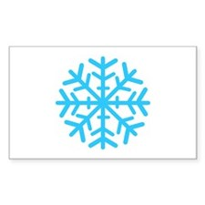 Blue Snowflake Decal