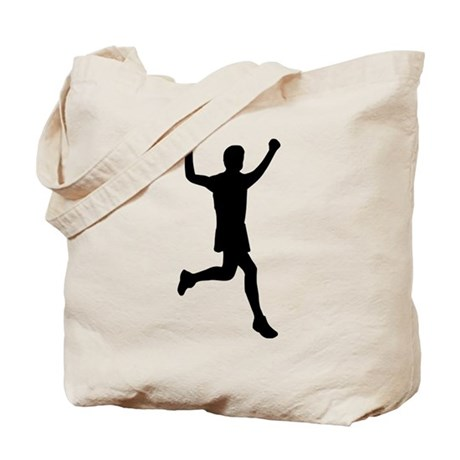 Runner running Tote Bag