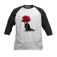 Roses Black Shawl Tee