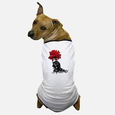 Roses Black Shawl Dog T-Shirt