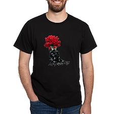 Roses Black Shawl T-Shirt