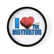 I Heart the Motivator Wall Clock