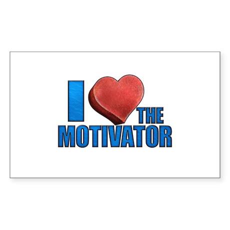 I Heart the Motivator Sticker (Rectangle)