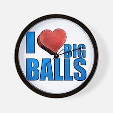 I Heart Big Balls Wall Clock