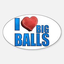 I Heart Big Balls Sticker (Oval)