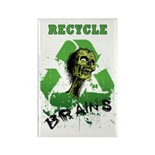Recycle Brains Rectangle Magnet