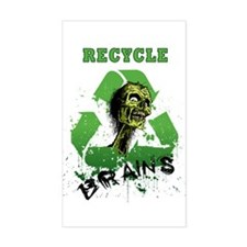 Recycle Brains Decal