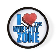 I Heart the Wipeout Zone Wall Clock