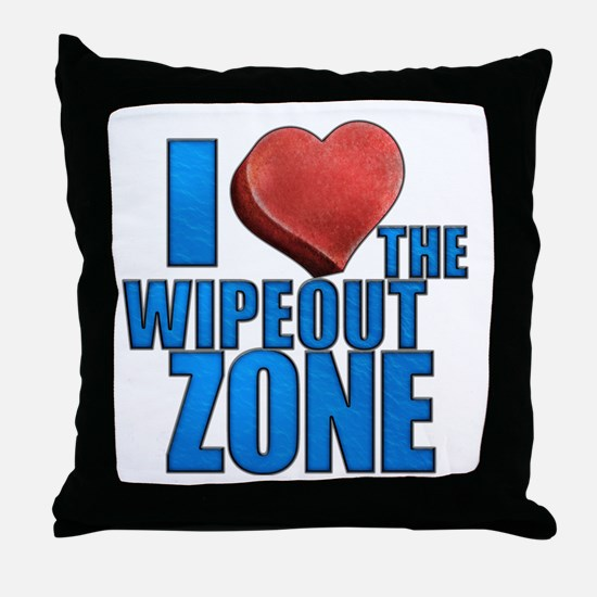 I Heart the Wipeout Zone Throw Pillow