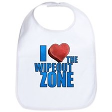 I Heart the Wipeout Zone Bib