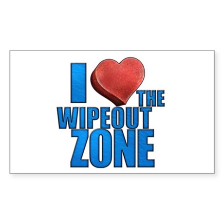 I Heart the Wipeout Zone Sticker (Rectangle)